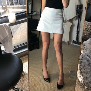 White mini skirt Zara